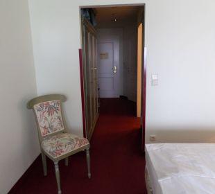 Blick zur Eingangstür Hotel Panhans