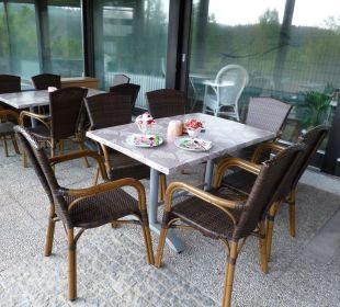 Gemeinschaftsterrasse Pension Haus Hochstein