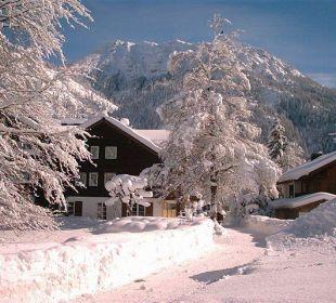 Winteransicht des Hauses Naturgesund Haus Viktoria