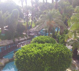 Hotel Garden seen from balcony Hotel Aqua