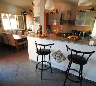Küche mit Bar PANORAMA Wohnung Holiday Residence Rifugio