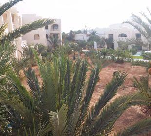 Ausblick vom Zimmer auf den Garten SunConnect Djerba Aqua Resort