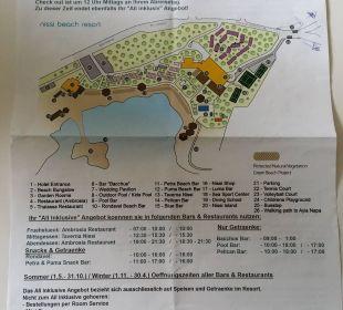 Karte mit Beschreibung Hotel Nissi Beach Resort