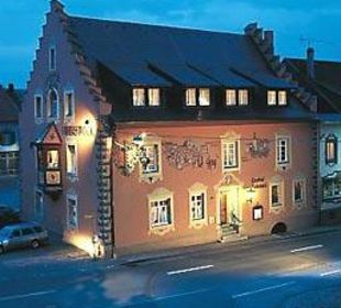 Rebstock bei Nacht Hotel Landgasthof Rebstock