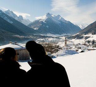 Blick vom Balkon im Winter Pension Schottenhof