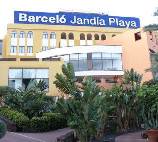 Front zur Strandseite Hotel Barcelo Jandia Playa