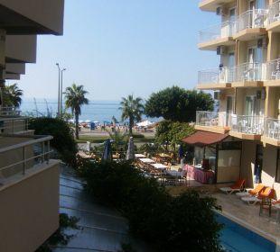 Vom Balkon aus Hotel Kleopatra Celine