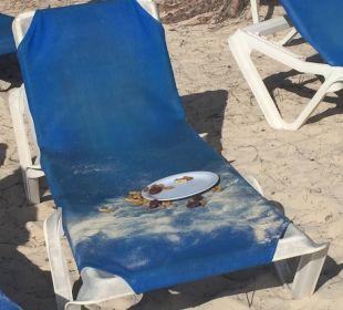 Morgens leider überall Essensreste Hotel Vista Sol Punta Cana