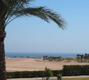 Unser Zimmerausblick in Richtung Strand und Meer Jaz Aquaviva