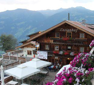 Sicht vom Balkon  Alpengasthof Enzianhof
