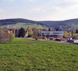 Blick ins Erzgebirge vom Hotel aus Hotel Bühlhaus