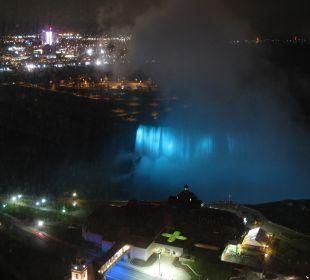 Blick aus dem Zimmer in der Nacht The Tower Hotel