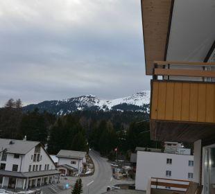 Ausblick vom Balkon Sunstar Alpine Hotel Lenzerheide