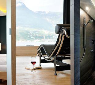 Zimmer Liege Bad modernes Design Hotel Residenz Pazeider