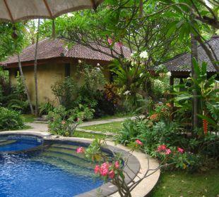 Ausblick von der Sonnenliege Saraswati Holiday House