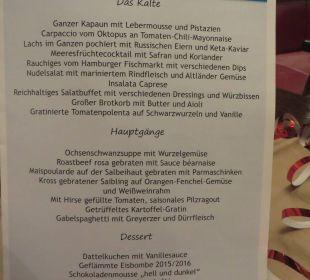 Karte Silvesterbuffet Lindner Park-Hotel Hagenbeck