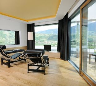 Suite Quelle im obersten Stock mit Terrasse Hotel Residenz Pazeider