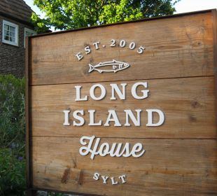 Hotelschild Hotel Long Island House Sylt