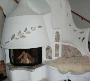 Kamin in der Turmsuite Hotel Bergkristall