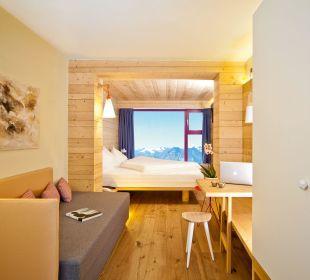Panorama view Glacier Hotel Grawand