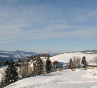 Blick vom Balkon Berghof am Paradies