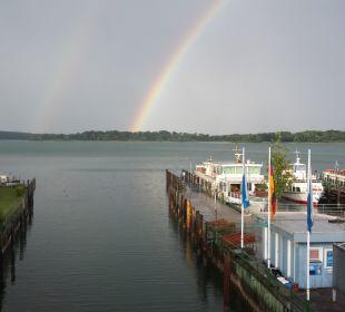 Regenbogen mit Raddampfer Ludwig Feßler  Hotel Luitpold am See 1&2