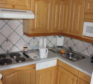 Küche WOhnung Elferspitz Pension Ausserwieserhof