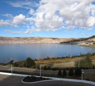 Ausblick auf die Bucht von Puno Hotel Libertador Lago Titicaca