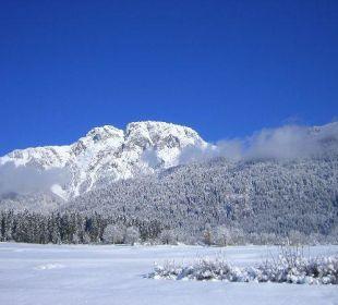 Unser Hausberg im Winter Bio Bauernhof Knaller
