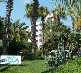 Eine wunderschöne Gartenanlage Hotel Aqua
