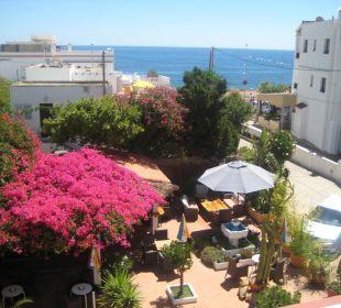 Ausblick von unserem Zimmer Hotel Casa Pepe