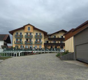 Blick von Rückseite Landhotel Stemp