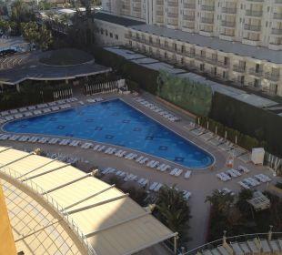 Aussicht vom Balkon Hotel Delphin Imperial