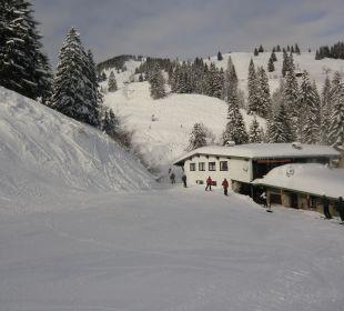 Der Zugang zum Skilift Berggasthof Rosengasse