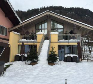 Rückseitige Ansicht  Apartments Ferienparadies Alpenglühn