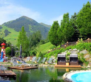 Blick zum Zwölferkogel Gartenhotel THERESIA