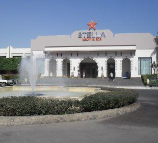 Ankunft - Haupteingang Stella Di Mare Beach Resort & Spa Makadi Bay