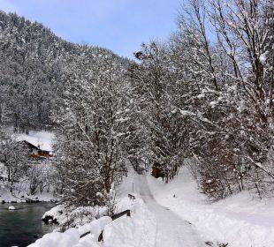 Winterwanderweg am Alpenglühn Apartments Ferienparadies Alpenglühn