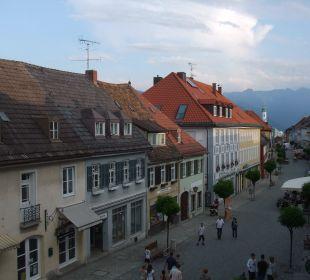 Vom Zimmer aus Ausblick auf die Berge Griesbräu zu Murnau