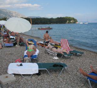 Ebenso keine Erholungsmöglichkeit Hotel Elea Beach