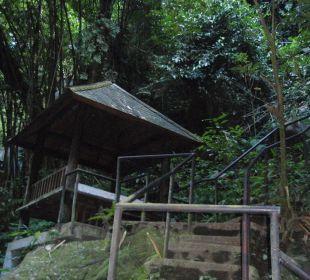 Ruhepunkt beim Fluß Hotel Nandini Bali Jungle Resort & Spa