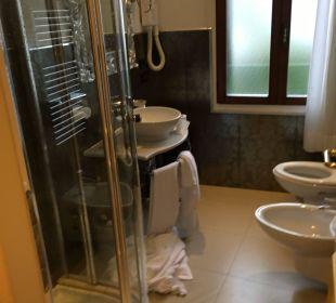 Badezimmer überschaubar mit großer Dusche