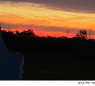 Sonnenuntergang im Strandkorb Birkenhof Neuharlingersiel