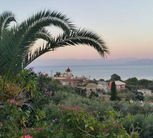 Moraitika von oben mit schönen Blick auf´s Meer Hotel Three Stars Village