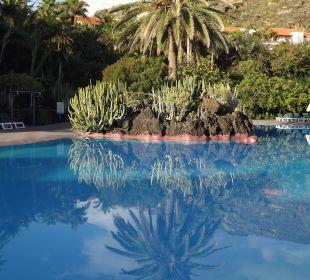 Spiegelungen am Pool Hotel Hacienda San Jorge