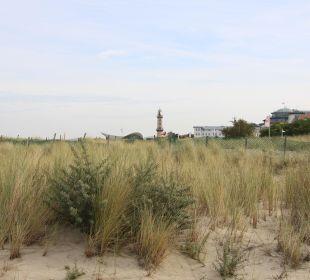 Ausblick Strand Richtung alten Strom Hotel Neptun