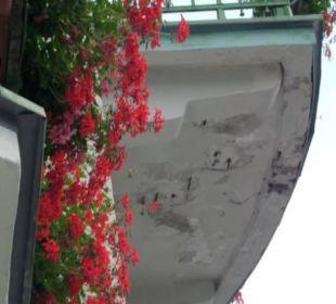 Der Balkon über uns... Hotel Panhans