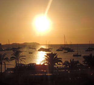 Sonnenuntergang von der Terrasse Hotel Osiris