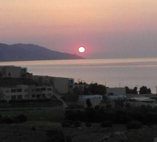 Sonnenaufgang morgens 06.15 vom Balkon aus  Hotel Lagas Aegean Village