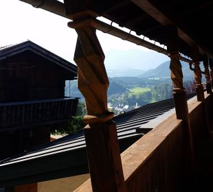Blick auf das Ferienhaus und Berchtesgaden